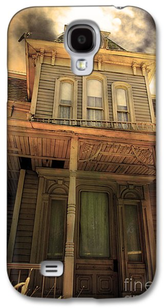Haunted House Digital Art Galaxy S4 Cases - Bates Motel 5D28867 sepia v1 Galaxy S4 Case by Wingsdomain Art and Photography