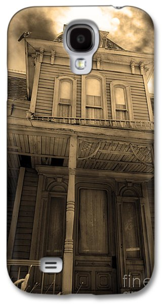 Haunted House Digital Art Galaxy S4 Cases - Bates Motel 5D28867 sepia v2 Galaxy S4 Case by Wingsdomain Art and Photography