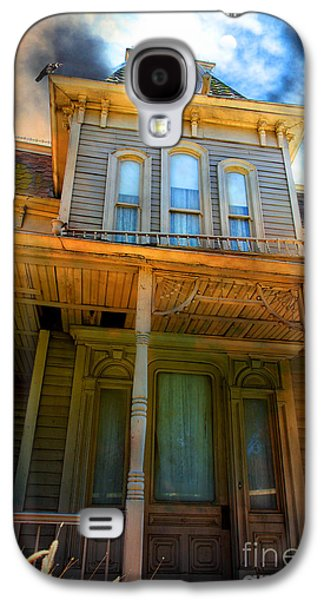 Haunted House Digital Art Galaxy S4 Cases - Bates Motel 5D28867 Galaxy S4 Case by Wingsdomain Art and Photography