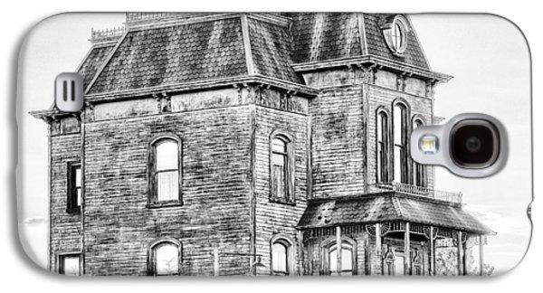 """haunted House"" Galaxy S4 Cases - Bates Motel Haunted House Black and White Galaxy S4 Case by Paul W Sharpe Aka Wizard of Wonders"