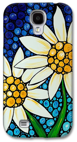 Bathing Beauties - Daisy Art By Sharon Cummings Galaxy S4 Case by Sharon Cummings