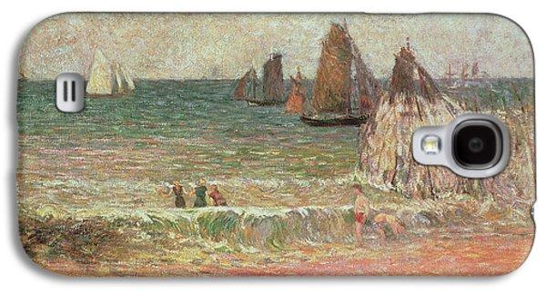 Simplistic Galaxy S4 Cases - Bathing Dieppe Galaxy S4 Case by Paul Gauguin