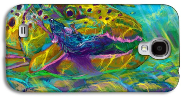 Rainbow Trout Digital Galaxy S4 Cases - Bathing the mouse  Galaxy S4 Case by Yusniel Santos
