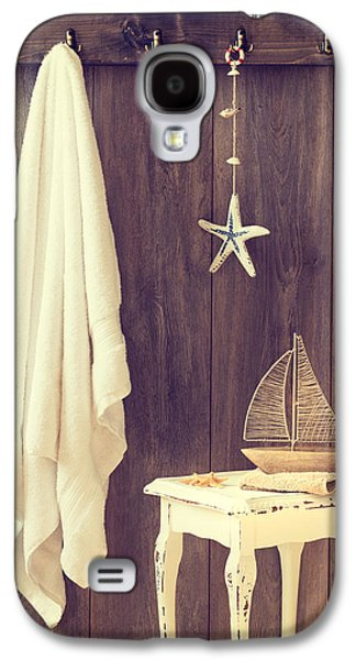 Toy Boat Galaxy S4 Cases - Bathroom Interior Galaxy S4 Case by Amanda And Christopher Elwell