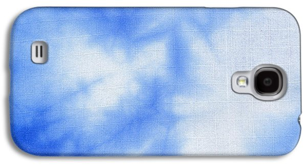 Light Tapestries - Textiles Galaxy S4 Cases - Batik blue and white Galaxy S4 Case by Kerstin Ivarsson