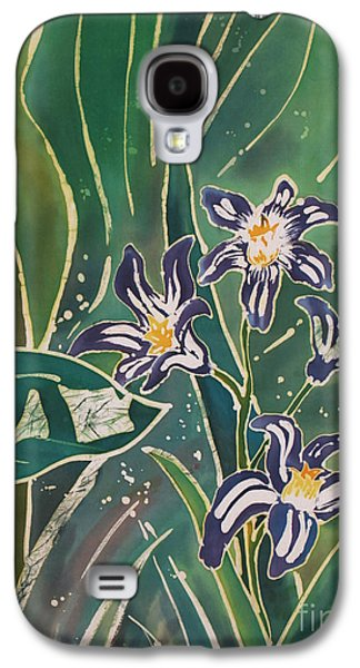 Dye Tapestries - Textiles Galaxy S4 Cases - Batik Detail - Pushkinia Galaxy S4 Case by Anna Lisa Yoder
