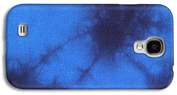 Light Tapestries - Textiles Galaxy S4 Cases - Batik in blue shades Galaxy S4 Case by Kerstin Ivarsson