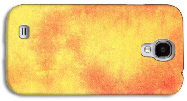 Colorful Abstract Tapestries - Textiles Galaxy S4 Cases - Batik in orange and yeallow Galaxy S4 Case by Kerstin Ivarsson