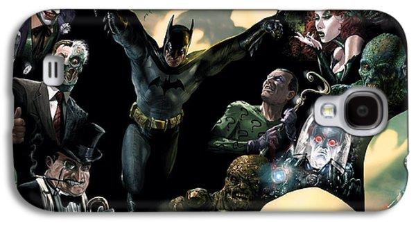 Dark Digital Galaxy S4 Cases - Batman and Foes Galaxy S4 Case by Ryan Barger