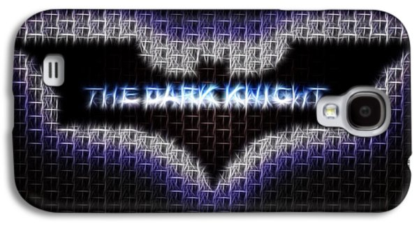 Abstract Digital Paintings Galaxy S4 Cases - Batman Fractalius painting Galaxy S4 Case by Georgeta Blanaru