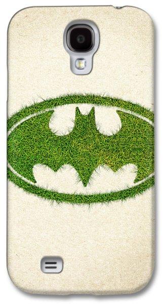 Waste Galaxy S4 Cases - Batman Grass Logo Galaxy S4 Case by Aged Pixel