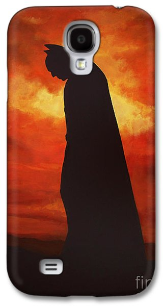 Realistic Art Paintings Galaxy S4 Cases - Batman  Galaxy S4 Case by Paul  Meijering