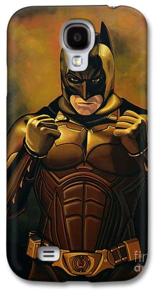 Bale Galaxy S4 Cases - Batman The Dark Knight Galaxy S4 Case by Paul Meijering