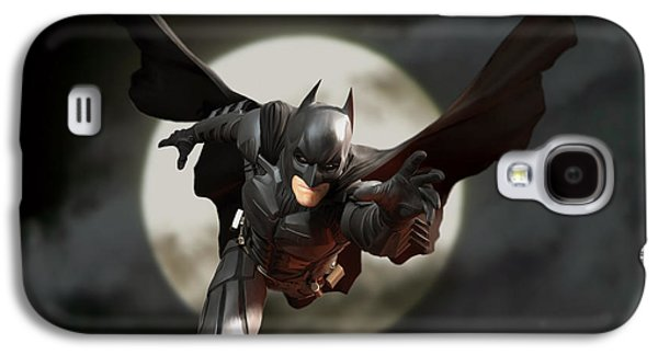 Dark Digital Art Galaxy S4 Cases - Batman - The Dark Knight Galaxy S4 Case by Paul Tagliamonte