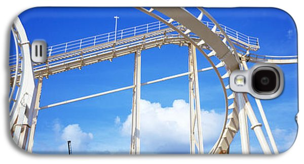 Rollercoaster Photographs Galaxy S4 Cases - Batman The Escape Rollercoaster Galaxy S4 Case by Panoramic Images