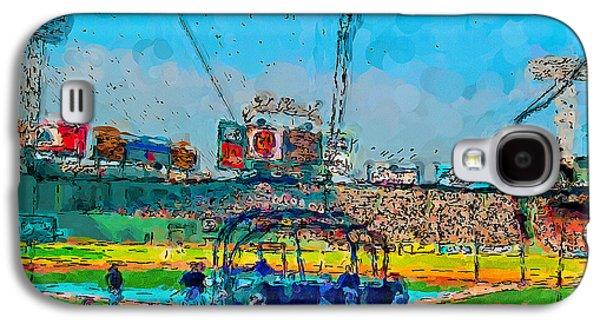 Batting Cage Fenway Galaxy S4 Case by John Farr