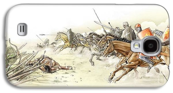 Knight Photographs Galaxy S4 Cases - Battle Of Arsuf, Third Crusades, 1191 Galaxy S4 Case by Jose Antonio Pe??as