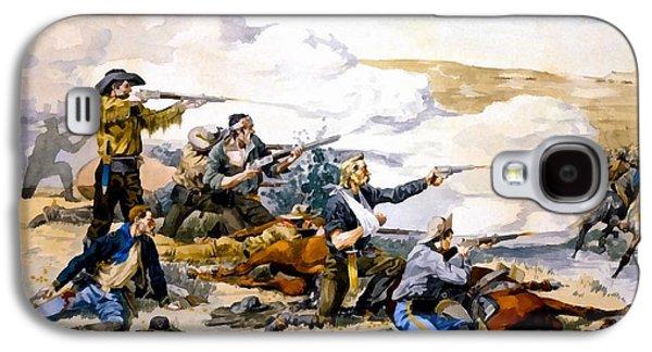 Remington Digital Galaxy S4 Cases - Battle of Beechers Island Galaxy S4 Case by Frederic Remington