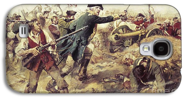 Redcoat Paintings Galaxy S4 Cases - Battle of Bennington Galaxy S4 Case by Frederick Coffay Yohn