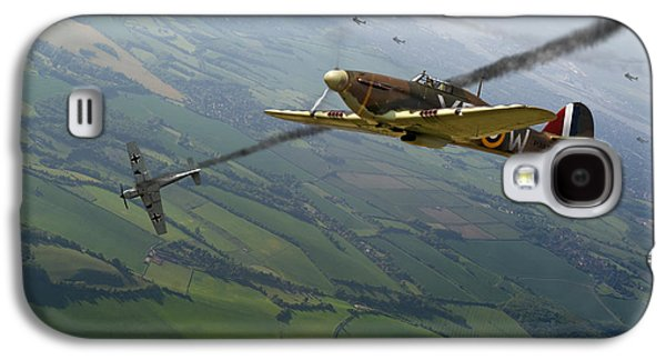 Dogfight Galaxy S4 Cases - Battle of Britain dogfight Galaxy S4 Case by Gary Eason