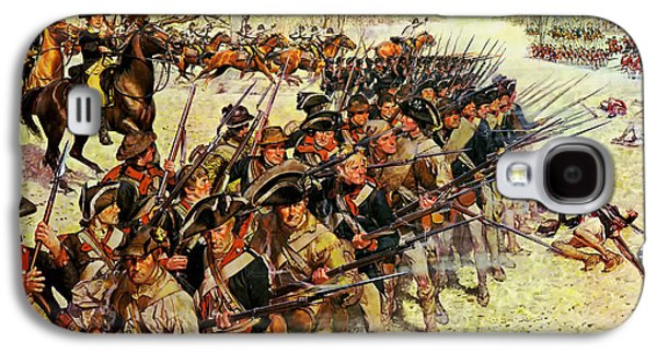 Redcoat Paintings Galaxy S4 Cases - Battle of Guilford Courthouse 1781 Galaxy S4 Case by Mountain Dreams