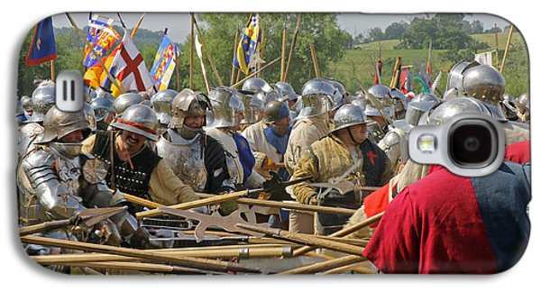 Historical Re-enactments Galaxy S4 Cases - Battle of Tewkesbury Galaxy S4 Case by Tony Murtagh