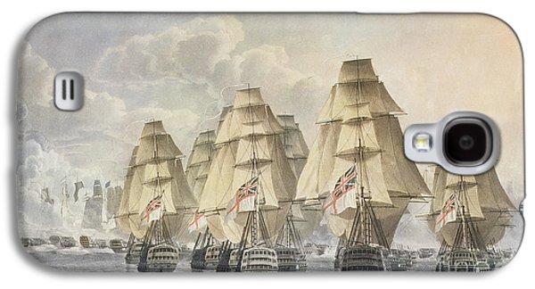 Sailing Ship Galaxy S4 Cases - Battle of Trafalgar Galaxy S4 Case by Robert Dodd