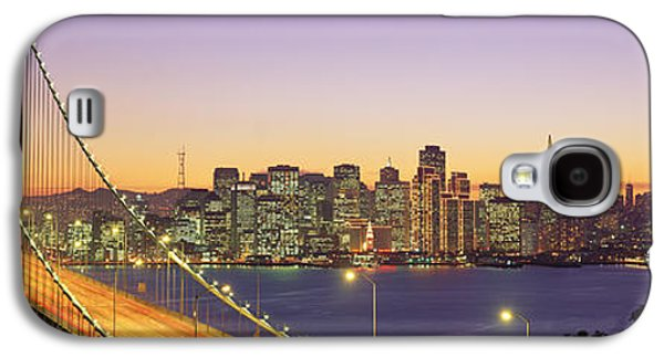 Connect Photographs Galaxy S4 Cases - Bay Bridge At Night, San Francisco Galaxy S4 Case by Panoramic Images