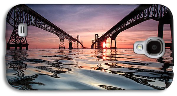 Bay Bridge Reflections Galaxy S4 Case by Jennifer Casey