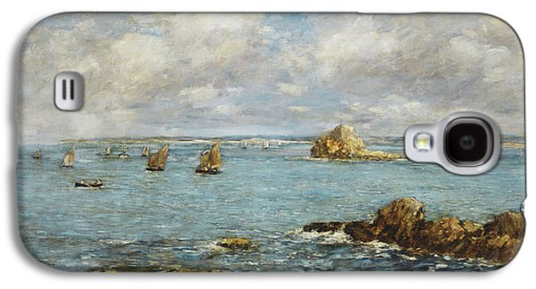 Water Vessels Paintings Galaxy S4 Cases - Bay of Douarnenez Galaxy S4 Case by Eugene Louis Boudin
