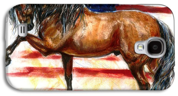 4th July Paintings Galaxy S4 Cases - Bay Patriot Galaxy S4 Case by Tere Goldstein