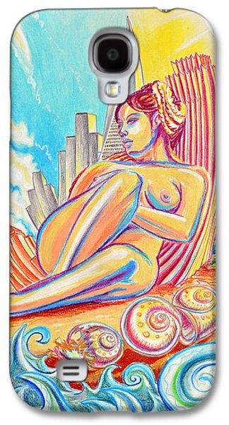 Spiral Pastels Galaxy S4 Cases - Baydream Galaxy S4 Case by Steven Bales