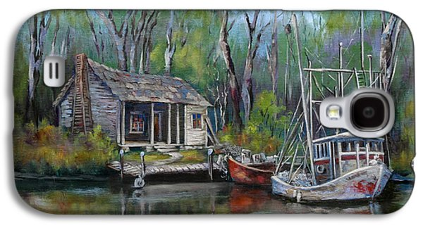 Park Galaxy S4 Cases - Bayou Shrimper Galaxy S4 Case by Dianne Parks