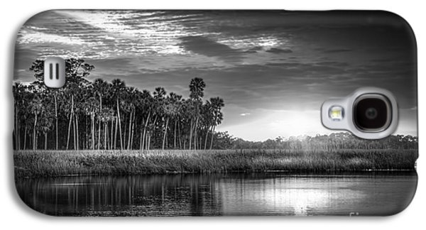 Park Scene Galaxy S4 Cases - Bayou Sunset-b/w Galaxy S4 Case by Marvin Spates