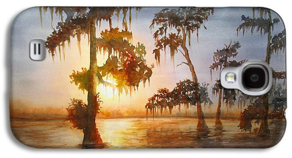 Alga Paintings Galaxy S4 Cases - Bayou Sunset Galaxy S4 Case by Mohamed Hirji