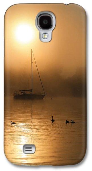 Docked Sailboat Galaxy S4 Cases - Bayside Sunrise 1 Galaxy S4 Case by Lori Deiter