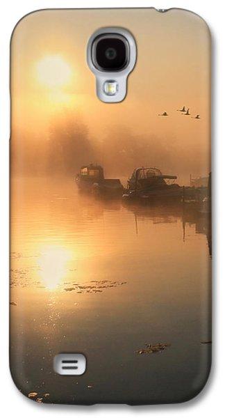 Docked Sailboat Galaxy S4 Cases - Bayside Sunrise 2 Galaxy S4 Case by Lori Deiter