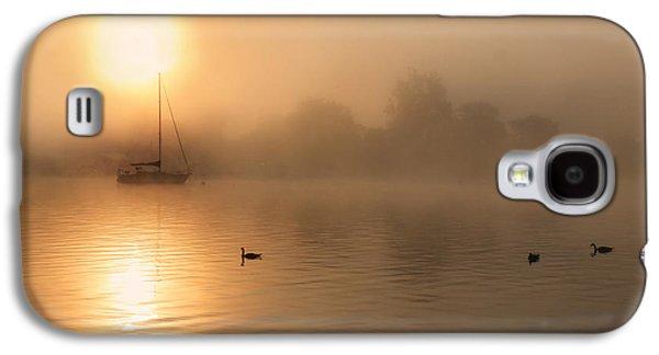 Docked Sailboat Galaxy S4 Cases - Bayside Sunrise 3 Galaxy S4 Case by Lori Deiter