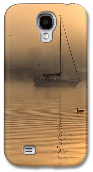 Docked Sailboat Galaxy S4 Cases - Bayside Sunrise 4 Galaxy S4 Case by Lori Deiter