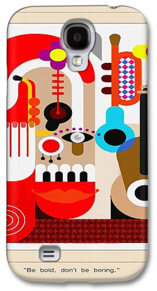 Nature Abstract Galaxy S4 Cases - Be Bold Galaxy S4 Case by Don Kuing