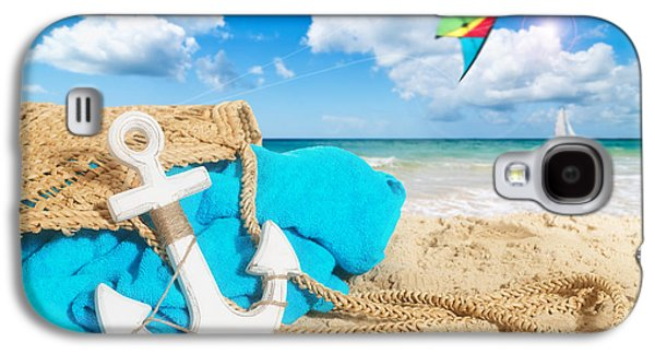 Beach Towel Galaxy S4 Cases - Beach Bag Galaxy S4 Case by Amanda And Christopher Elwell
