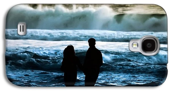 Surf Silhouette Galaxy S4 Cases - Beach Buddies Galaxy S4 Case by Camille Lopez