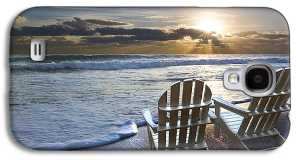 Beach Chairs Galaxy S4 Case by Debra and Dave Vanderlaan