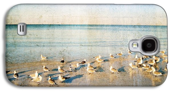 Beach Combers - Seagull Art By Sharon Cummings Galaxy S4 Case by Sharon Cummings