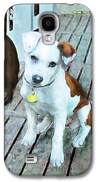 Beach Dog 1 Galaxy S4 Case by Jane Schnetlage