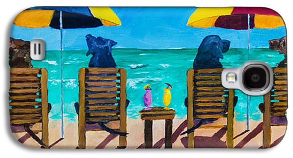 Beach Dogs Galaxy S4 Case by Roger Wedegis