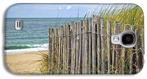 Coast Landscape Galaxy S4 Cases - Beach fence Galaxy S4 Case by Elena Elisseeva
