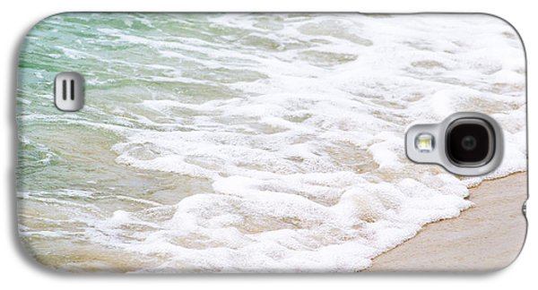 Splashy Photographs Galaxy S4 Cases - Beach Foam Galaxy S4 Case by Shelby  Young