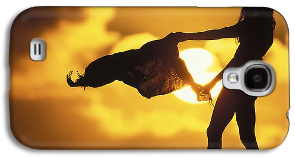 Surf Silhouette Galaxy S4 Cases - Beach Girl Galaxy S4 Case by Sean Davey