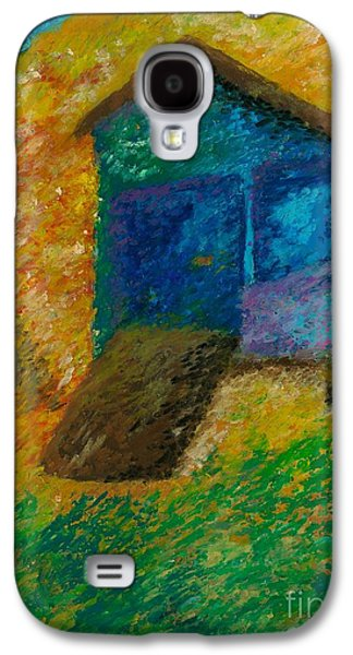 Landscape Acrylic Prints Pastels Galaxy S4 Cases - Beach House Galaxy S4 Case by Jon Kittleson